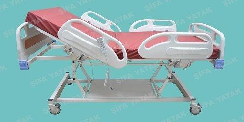 Full ABS 4 Motorlu Asansörlü Hasta Yatağı SYK-600